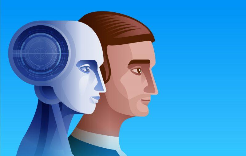 A man and a robot