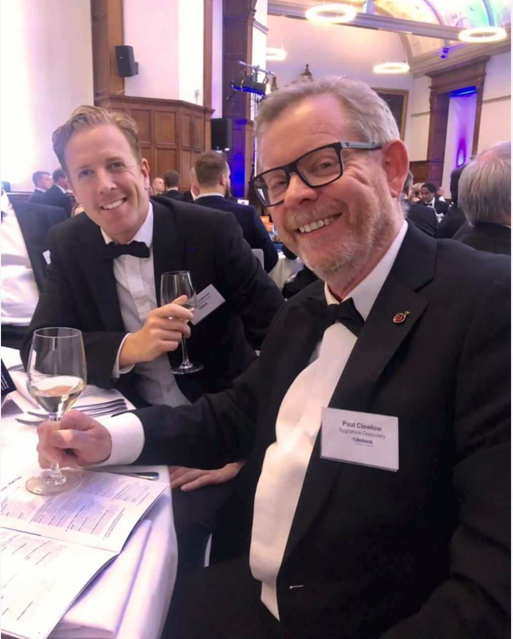 Paul Clewlow and Director of Marketing Andy Lindstrom enjoy a tipple at the OBN Awards 2019